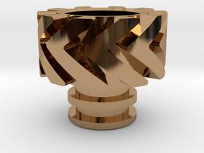 Warp Heat Sink in Polished Brass