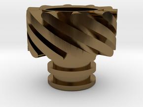 Turbo Driptip Heat Sink in Polished Bronze
