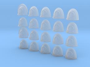 Omega - 20, 28mm Shoulder Pads in Smooth Fine Detail Plastic