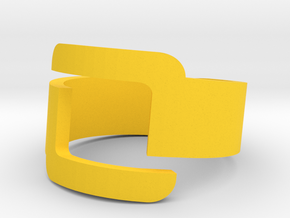 Connector Cool Plastic Ring [Size 8] in Yellow Processed Versatile Plastic