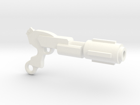 Laser Rifle Keyring in White Processed Versatile Plastic