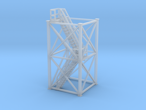 'S Scale' - 10' x 10' x 20' Tower With Stairs in Smooth Fine Detail Plastic