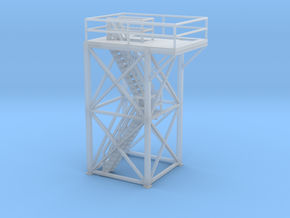 'S Scale' - 10' x 10' x 20' Tower Top With Stairs in Smooth Fine Detail Plastic