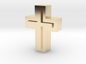 Cross1  in 14k Gold Plated Brass