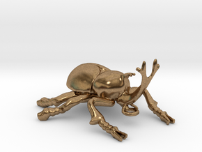 Hercules Beetle pendant in Natural Brass