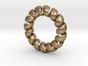 SpiralRing in Polished Gold Steel