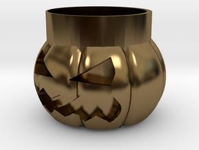 Halloween Pumpkin Glass New in Polished Bronze
