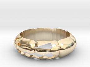 Halloween Pumpkin Ring in 14k Gold Plated Brass