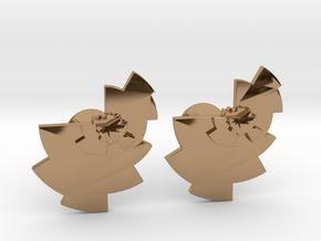 Data Visualization Cufflinks  in Polished Brass