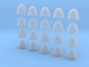 Nuclear Symbol - 20, 28mm Shoulder Pads in Smooth Fine Detail Plastic