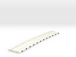 P-165stw-curved-914r-tram-track-12d-75-w-1a in White Processed Versatile Plastic