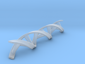 DNA double helix scaled up by 2 in Smooth Fine Detail Plastic