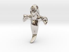 Ghost Pendant in Platinum