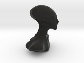 Homo Capensis Alien Bust in Black Natural Versatile Plastic