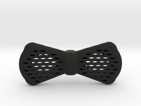Insert-a-color Bow Tie Geometric Design in Black Natural Versatile Plastic