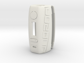 DNA200 Ergonomic case in White Natural Versatile Plastic