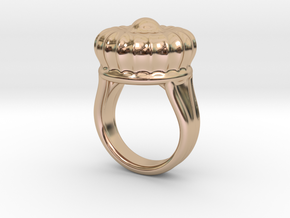 Old Ring 29 - Italian Size 29 in 14k Rose Gold Plated Brass