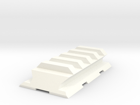 VZ61 Upper Picatinny Rail in White Strong & Flexible Polished