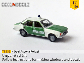 Opel Ascona Polizei (TT 1:120) in Smooth Fine Detail Plastic