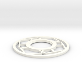 Lightsaber japanese Tsuba in White Processed Versatile Plastic