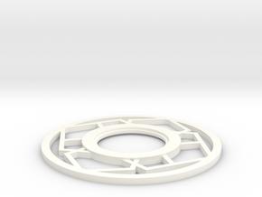 Lightsaber japanese Tsuba in White Processed Versatile Plastic