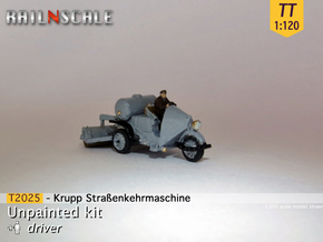Krupp Straßenkehrmaschine (TT 1:120) in Smooth Fine Detail Plastic
