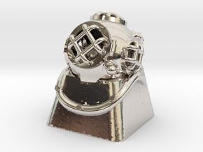 Diver Helmet (For Cherry MX Keycap) in Platinum