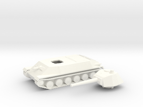 Czech Skoda Panther T-25 1/100th 15mm in White Processed Versatile Plastic