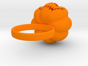 Pumpkin ring - Size 5 in Orange Strong & Flexible Polished