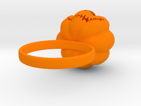 Pumpkin ring - Size 10 in Orange Strong & Flexible Polished