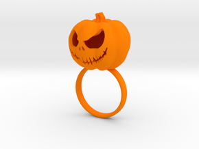 Pumpkin ring - Size 6 in Orange Strong & Flexible Polished
