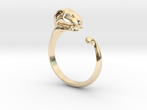 Rabbit Ring - (Sizes 5 to 15 available) US Size 9 in 14k Gold Plated Brass