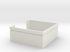 Trash Enclosure; No Doors in White Natural Versatile Plastic