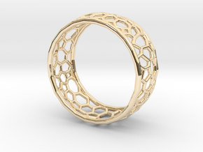 Cellular structure ring in 14K Yellow Gold