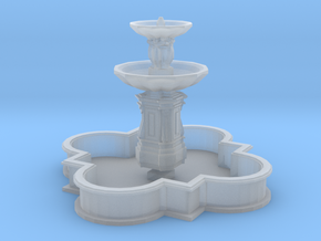 Barbed quatrefoil fountain (N 1:160) in Smoothest Fine Detail Plastic