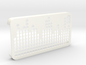 IPhone 4 4S Case Equalizer in White Processed Versatile Plastic