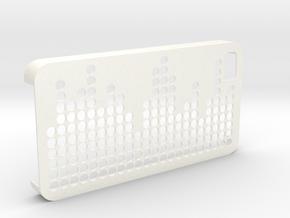 IPhone 4 4S Case Equalizer in White Processed Versatile Plastic