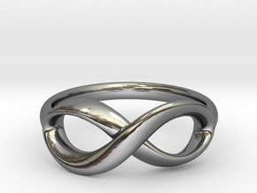 Lemniscate Ring in Premium Silver: 6 / 51.5