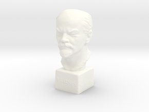 Lenin in White Processed Versatile Plastic