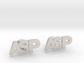 Monogram Cufflinks ASP in Platinum