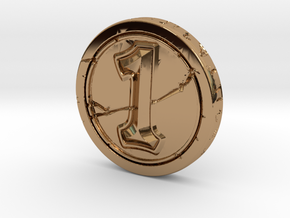 Hearthstone Coin in Polished Brass
