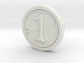 Hearthstone Coin in White Natural Versatile Plastic