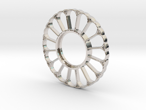 MHS Compatible Imperator Tsuba in Rhodium Plated Brass