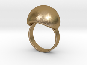 VESICA PISCIS Ring Nº3 in Polished Gold Steel