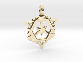 FLAME OF DESTINY in 14k Gold Plated Brass
