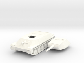 Czech Skoda T-24 1/100th 15mm in White Processed Versatile Plastic