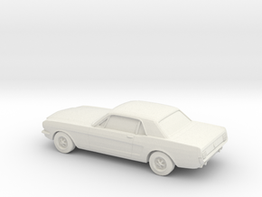 1/87 1964 Ford Mustang GT  in White Natural Versatile Plastic