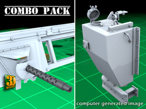 IDF 30cal-Tank Combo in Smooth Fine Detail Plastic
