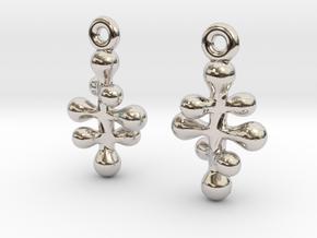 Twisting Pair 1 in Rhodium Plated Brass