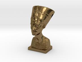 Nefertitti pendant in Polished Bronze